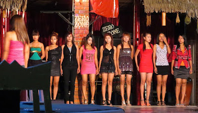 pretty nightclub models at Yangon