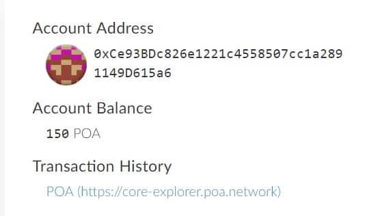 Cómo Guardar en Monedero Moneda POA NETWORK