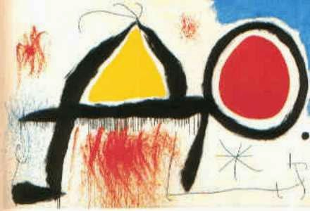 Figura em Frente ao Sol - Miró, Joan e suas principais pinturas