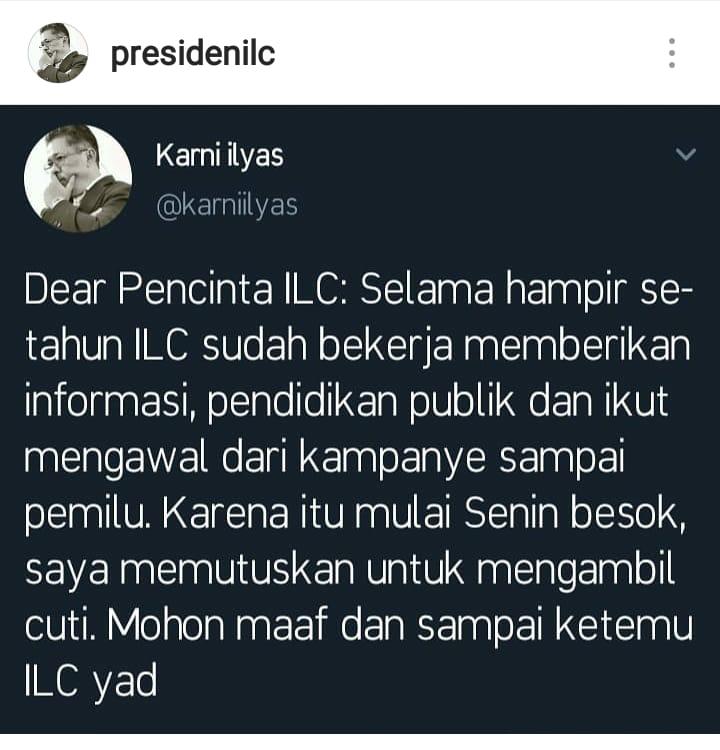 Karni Ilyas Cuti, Ini Komentar Haru Putra KH M Arifin Ilham