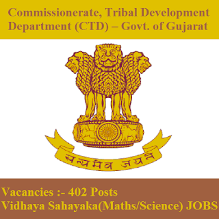Commissionerate, Tribal Development Department, CTD, Govt. of Gujarat, Gujarat, freejobalert, Sarkari Naukri, Latest Jobs, Graduation, ctd gujarat logo