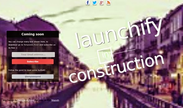 Launchify Coming Soon Blogger Template