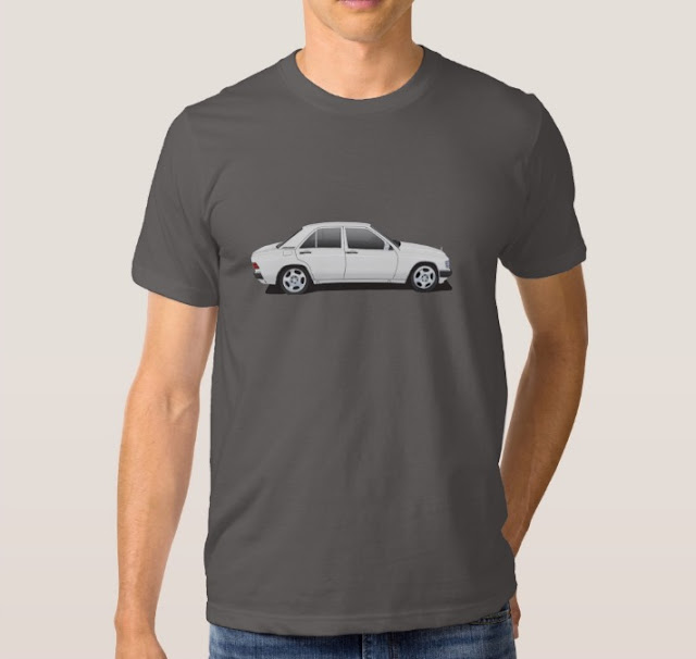 Mercedes-Benz W201 190E t-shirts 90s