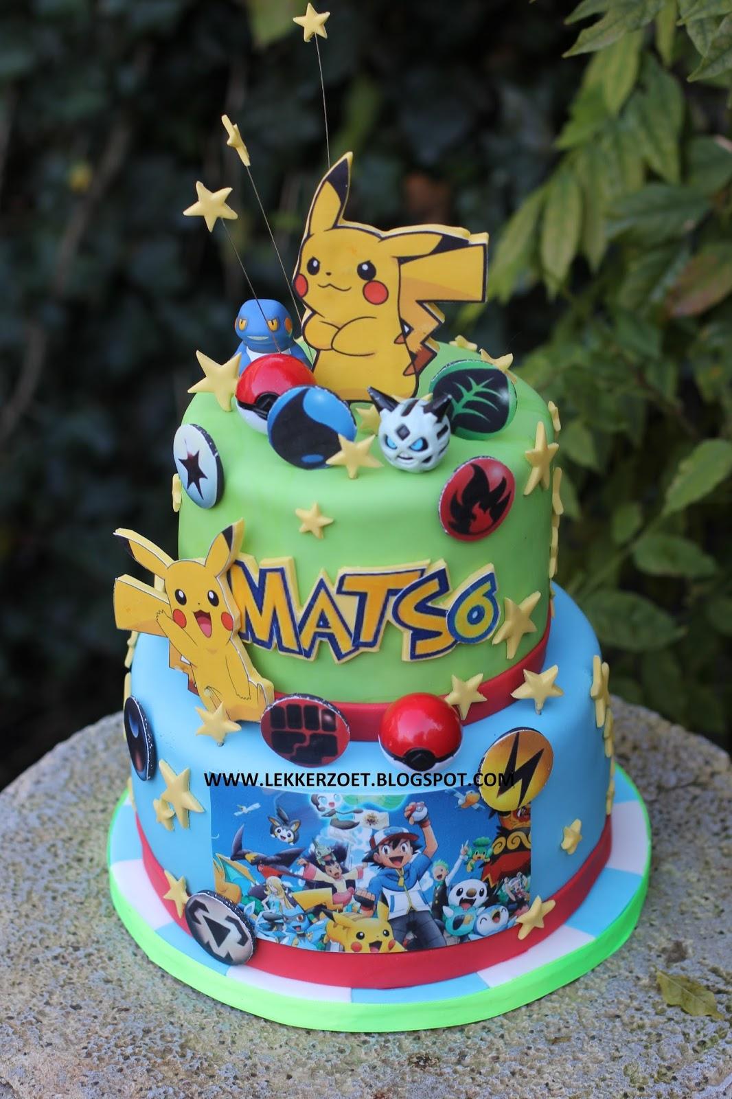 pokemon taart lekker zoet: Pokémon taart voor Mats 6 jaar pokemon taart