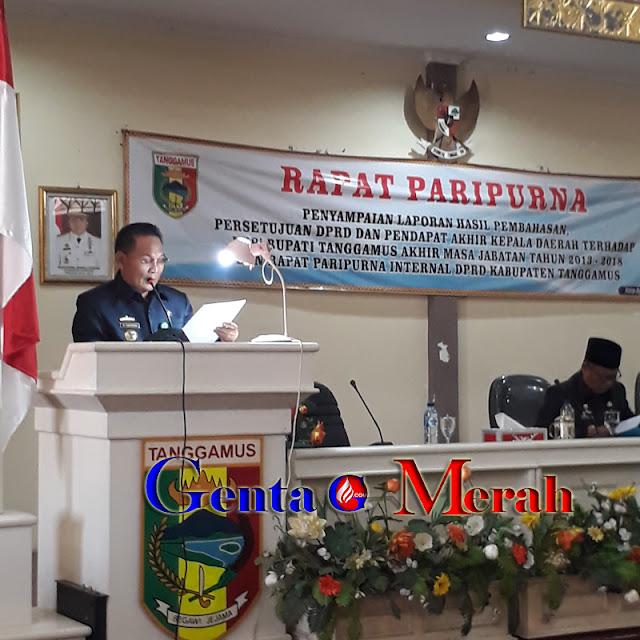 Mampu Wujudkan Visi Misinya, DPRD  Beri Apresiasi Pemkab Tanggamus