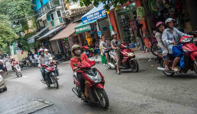 Motos en Hanoi