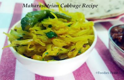 How To Make Cabbage Maharashtrian Style - Kobi Ki Sabzi