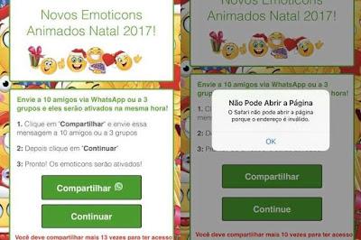Golpe no WhatsApp usa emojis de Natal como isca