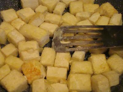 Sauteing Tofu