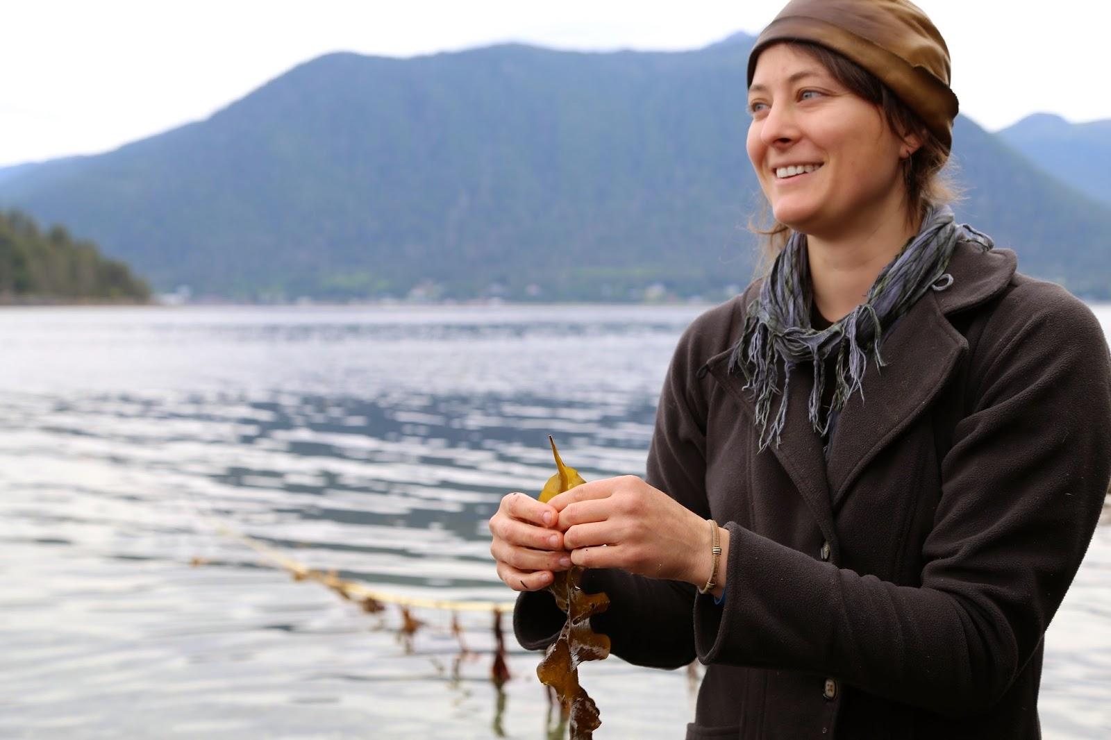 Hope Merritt, gathering seaweed, Sitka, , Alaska pic: Kerstin Rodgers/msmarmitelover.com