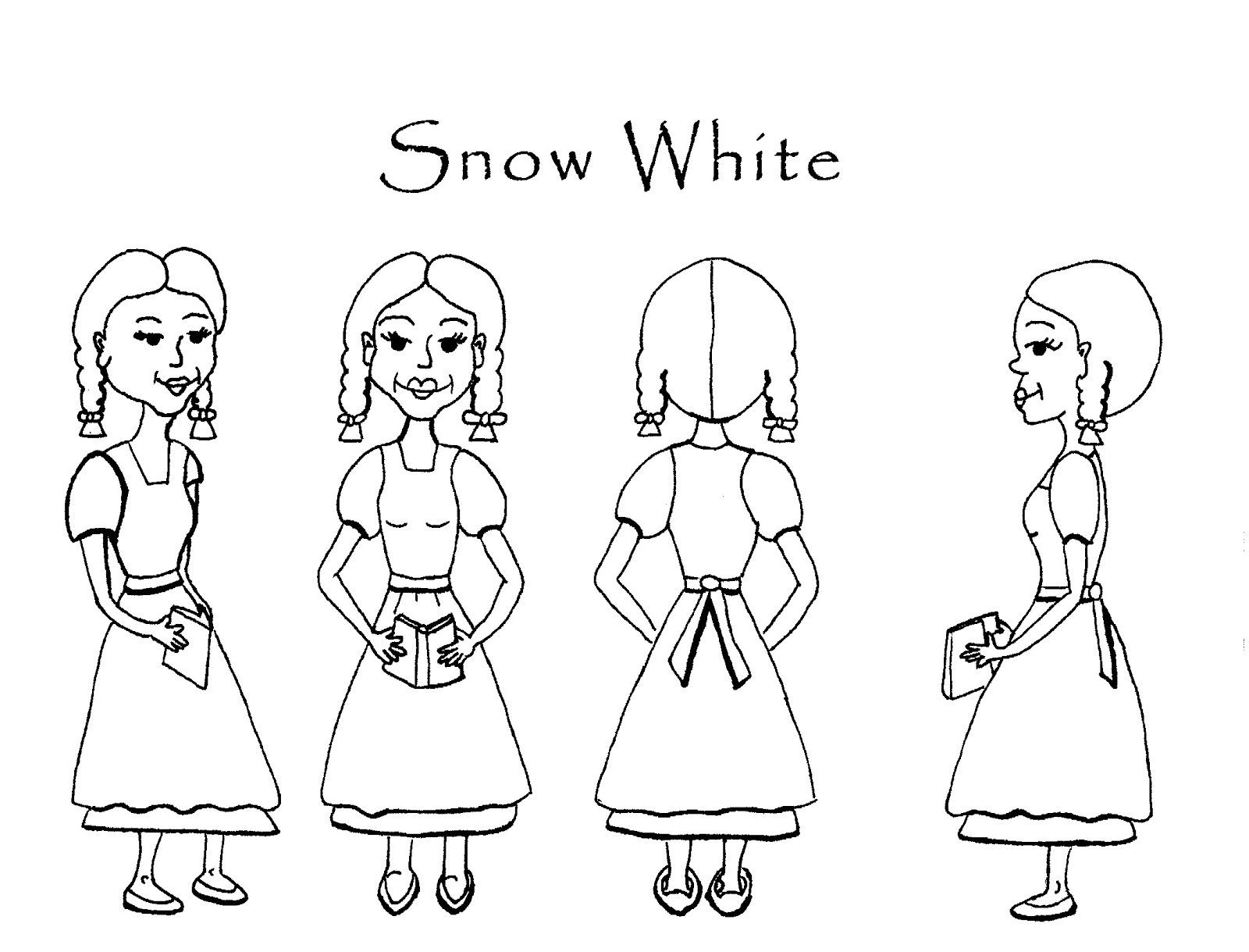 Celtic Harp Princess Snow White And Rose Red Final Characters