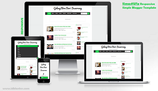 SimastWix Responsive Simple Blogger Template