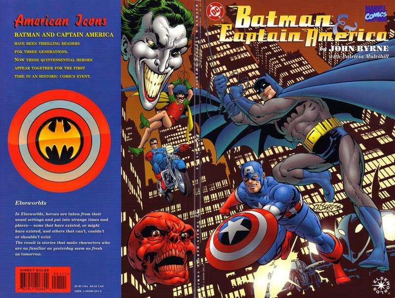 the crossover universe crossover cover batman captain america