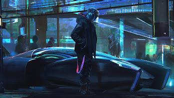 Cyberpunk, Car, Sci-Fi, Digital Art, 4K, #132