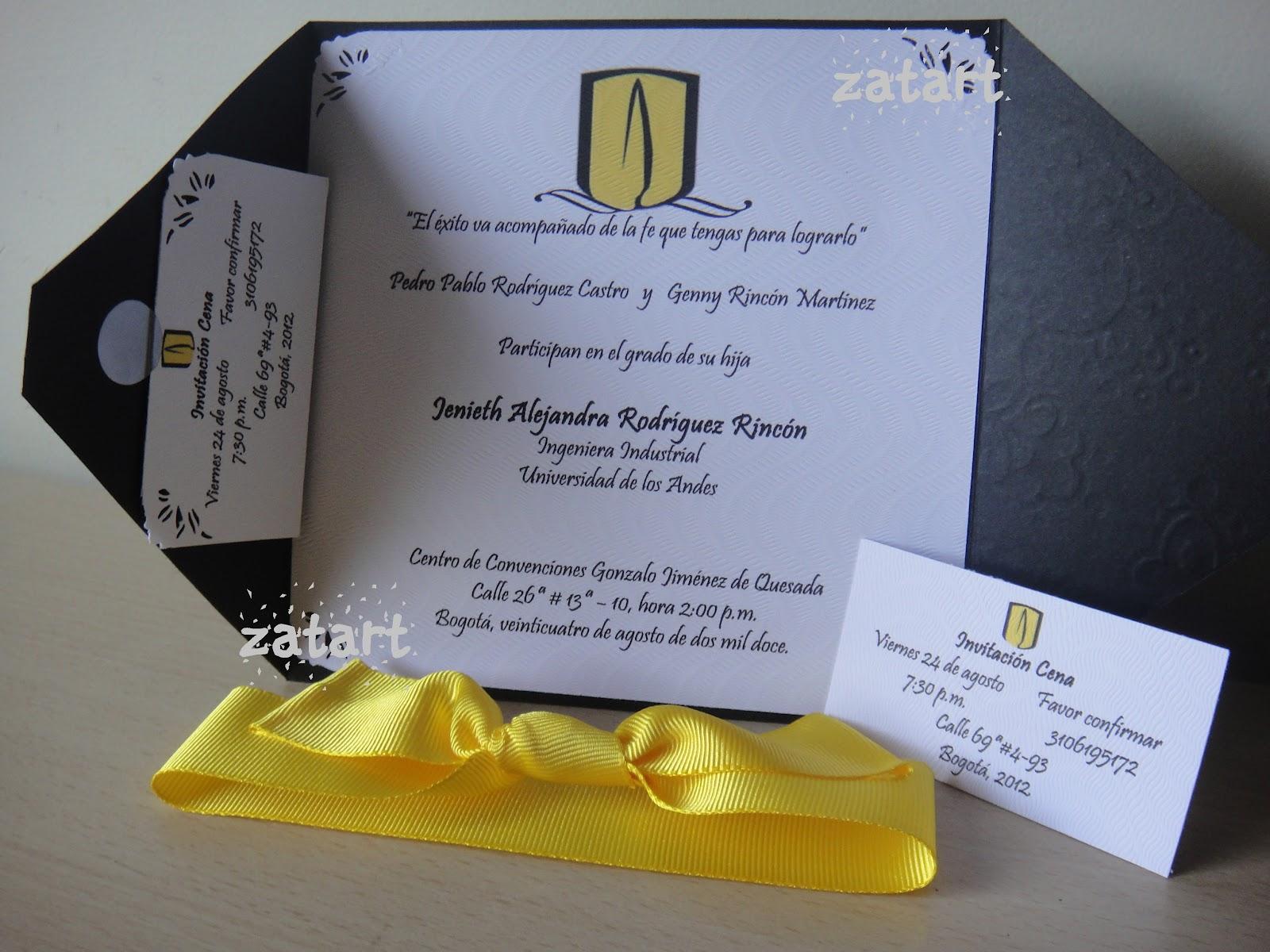 Dedicatorias Para Tarjetas De Invitación De Grado