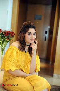 Actress Hansika Motwani Latest Stills in Yellow Dress  0001.jpg