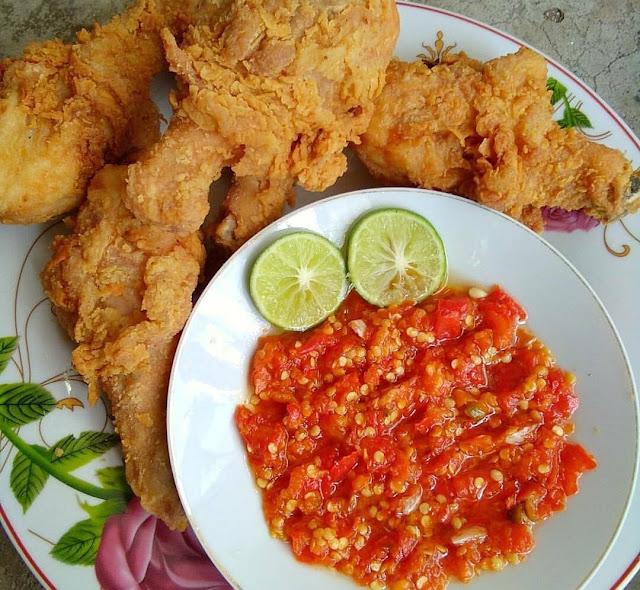 Ayam Tepung Goreng Kentucky + Sambal Korek