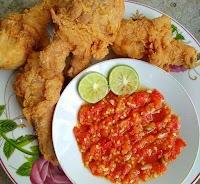 Resep & Cara Membuat Ayam Kentucky + Sambal Korek