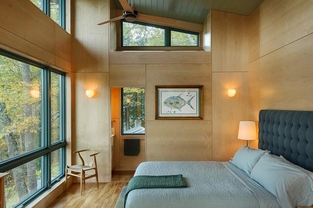 dormitorio paredes madera