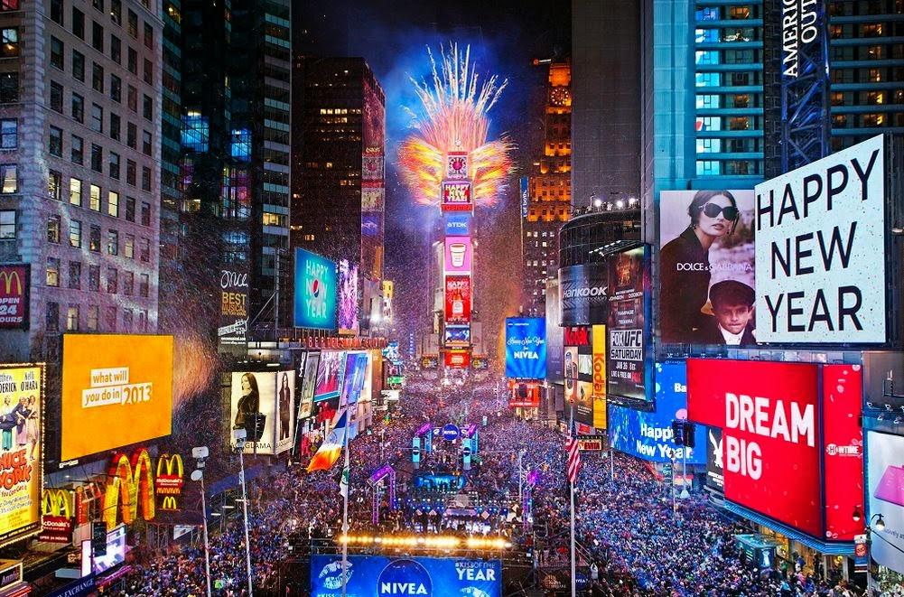 L'ultimo dell'anno a Time Square, New York, è un classico