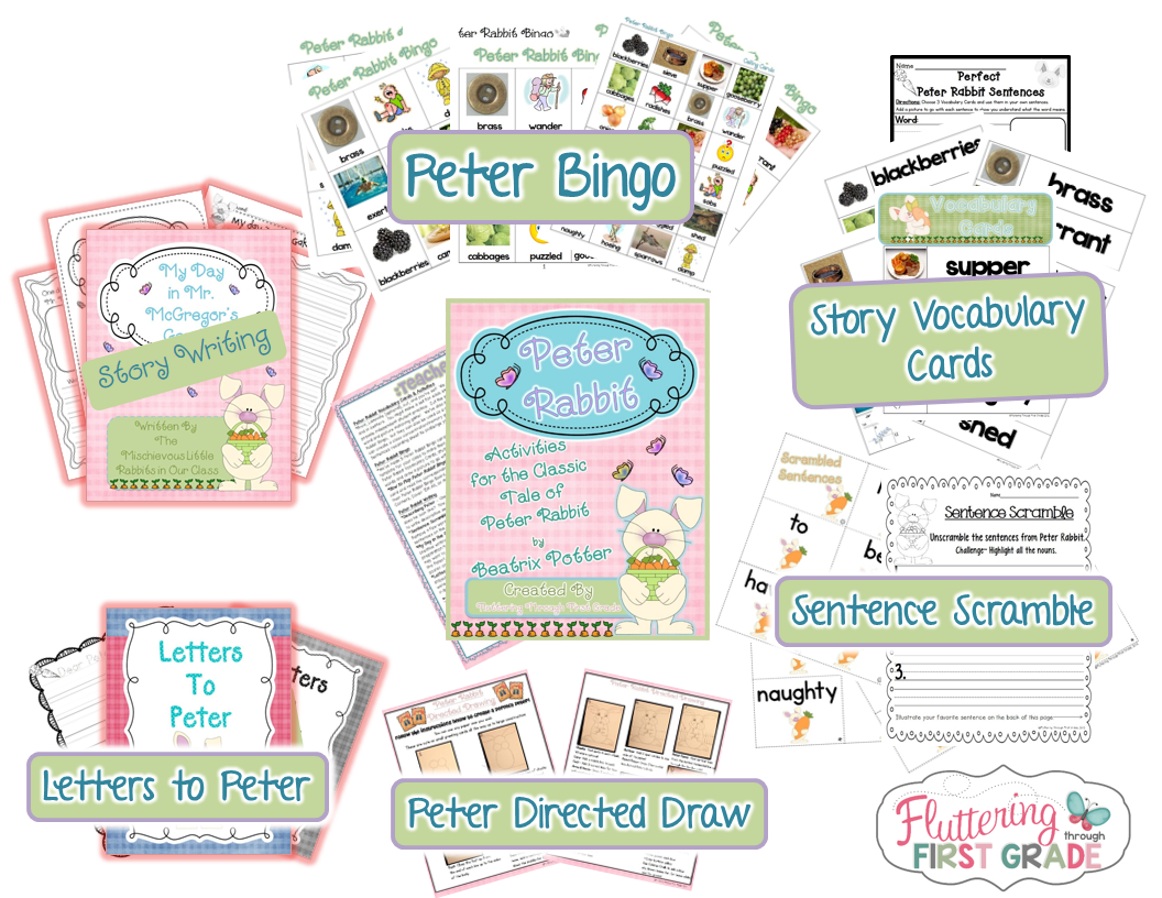 The Tale of Peter Rabbit story activities for spring