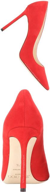 Brilliant Luxury ♦ Jimmy Choo Romy red suede pumps