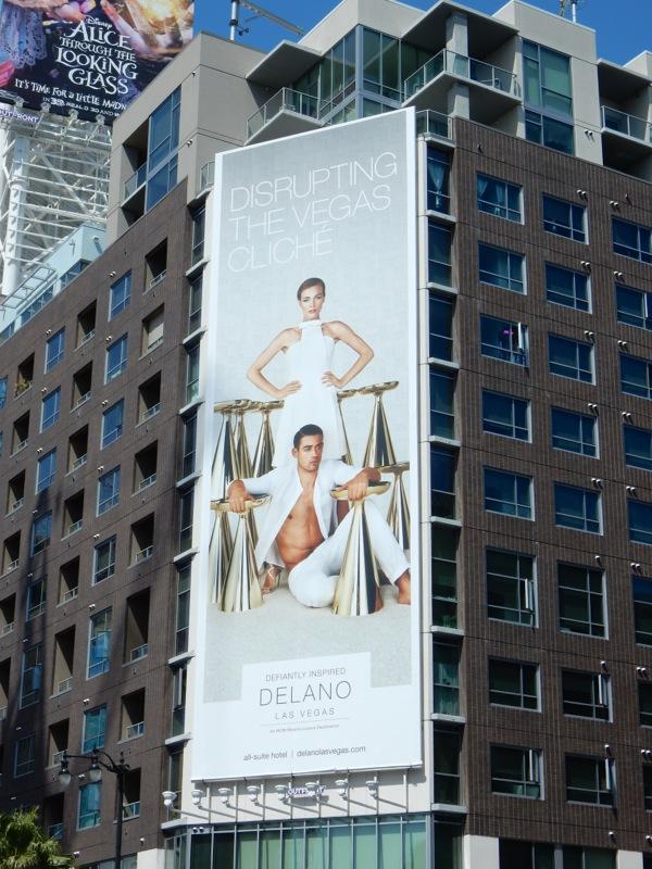 Disrupting the Vegas cliché Delano Hotel billboard