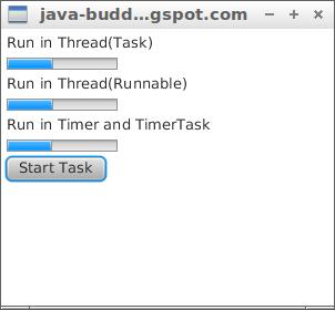 Java-Buddy: Update JavaFX UI in scheduled task, of Thread(Task