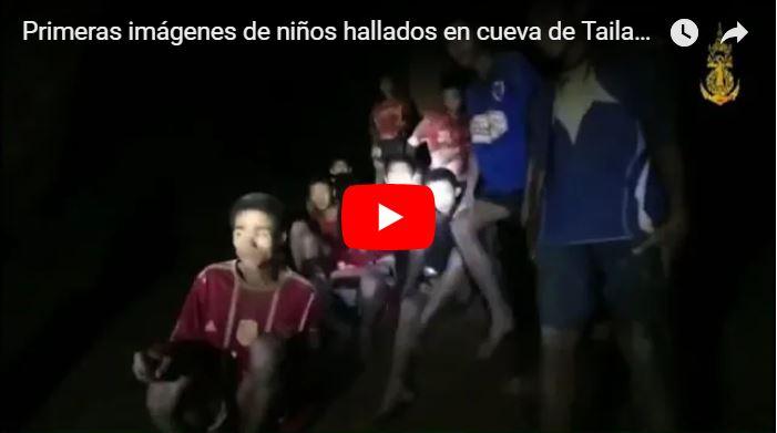 Intentarán evacuar a 12 niños que quedaron atrapados en una cueva