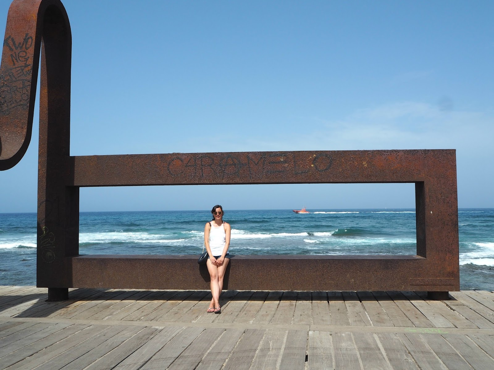 metal beach artwork Tenerife los cristianos