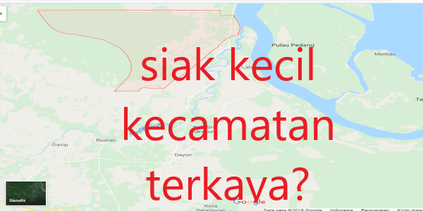 Jumlah Desa Di Kecamatan Siak Kecil