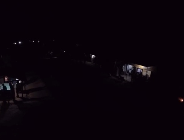 Kenyan village at night