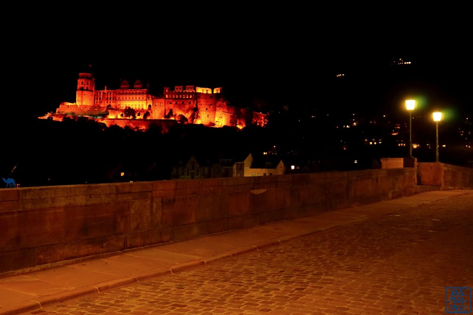 Le Chameau Bleu - Blog Voyage Heildeberg Allemagne - Chateau d`Heidelberg by night