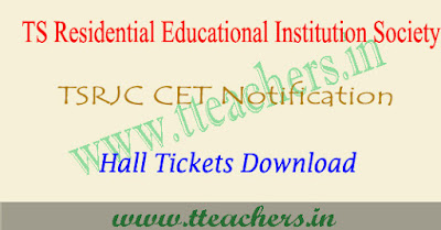 TSRJC hall tickets 2019 , tsrjc 2019 hall ticket download