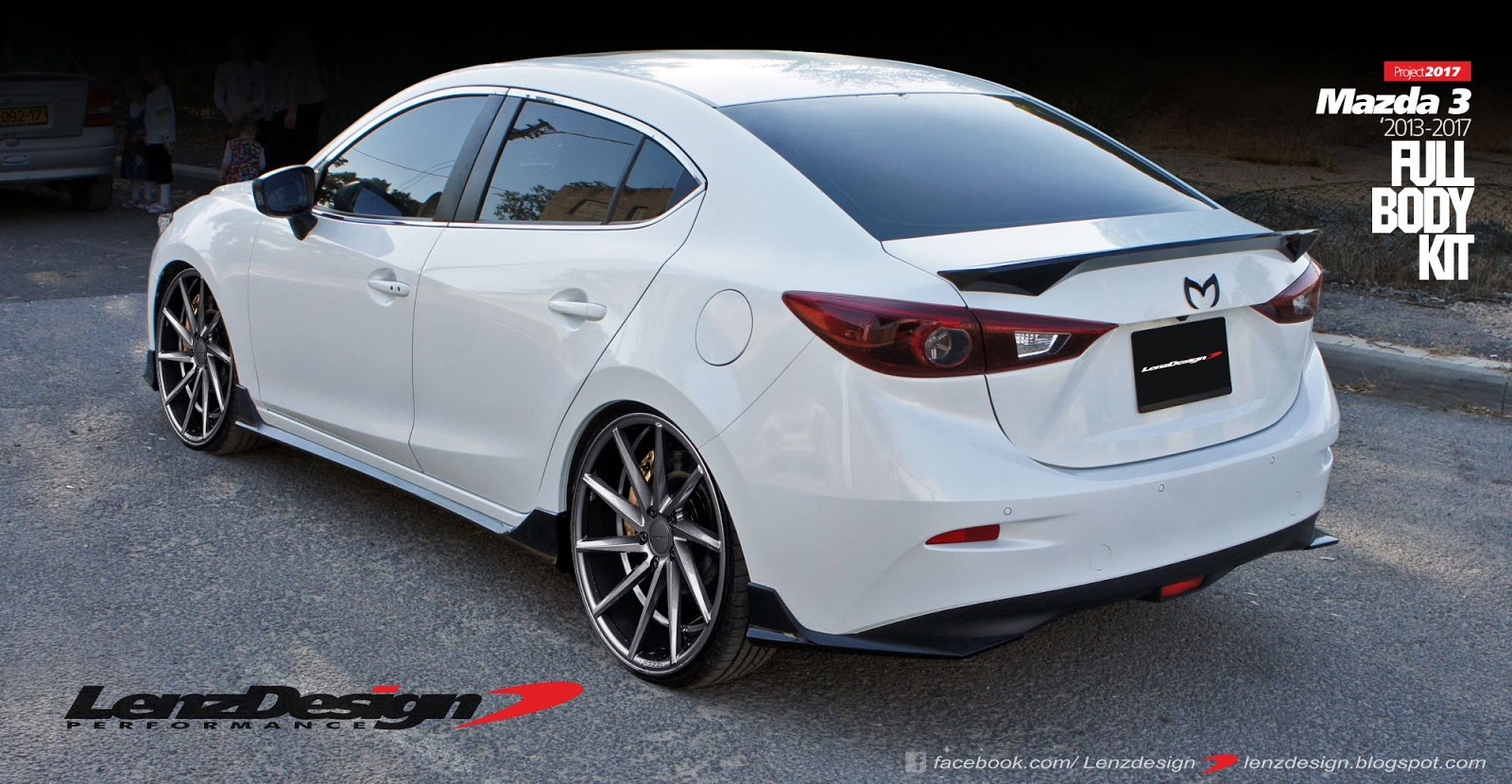 mazda 3 bm axela lenzdesign bodykit spoilers 2013 2014. Black Bedroom Furniture Sets. Home Design Ideas