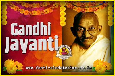 2046 Gandhi Jayanti Date and Time, 2046 Gandhi Jayanti Calendar