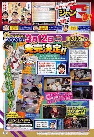 My Hero One's Justice 2 tem data de lançamento divulgada no Japão