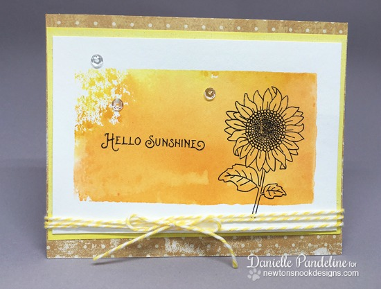 Hello Sunshine Sunflower Card by Danielle Pandeline | Flower Garden Stamp set by Newton's Nook Designs #newtonsnook