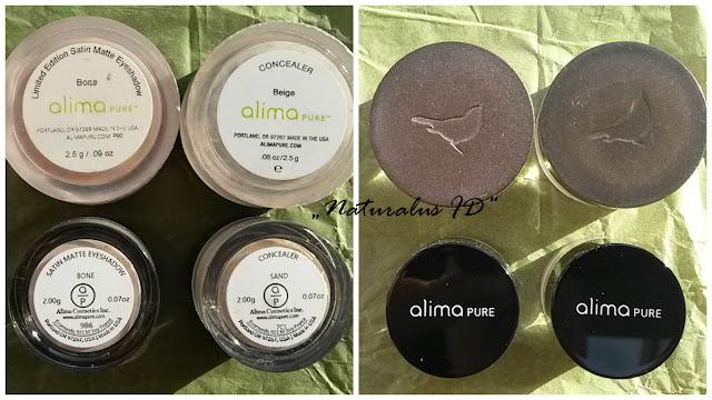 Alima Pure mineralinė kosmetika, indelių dizainas