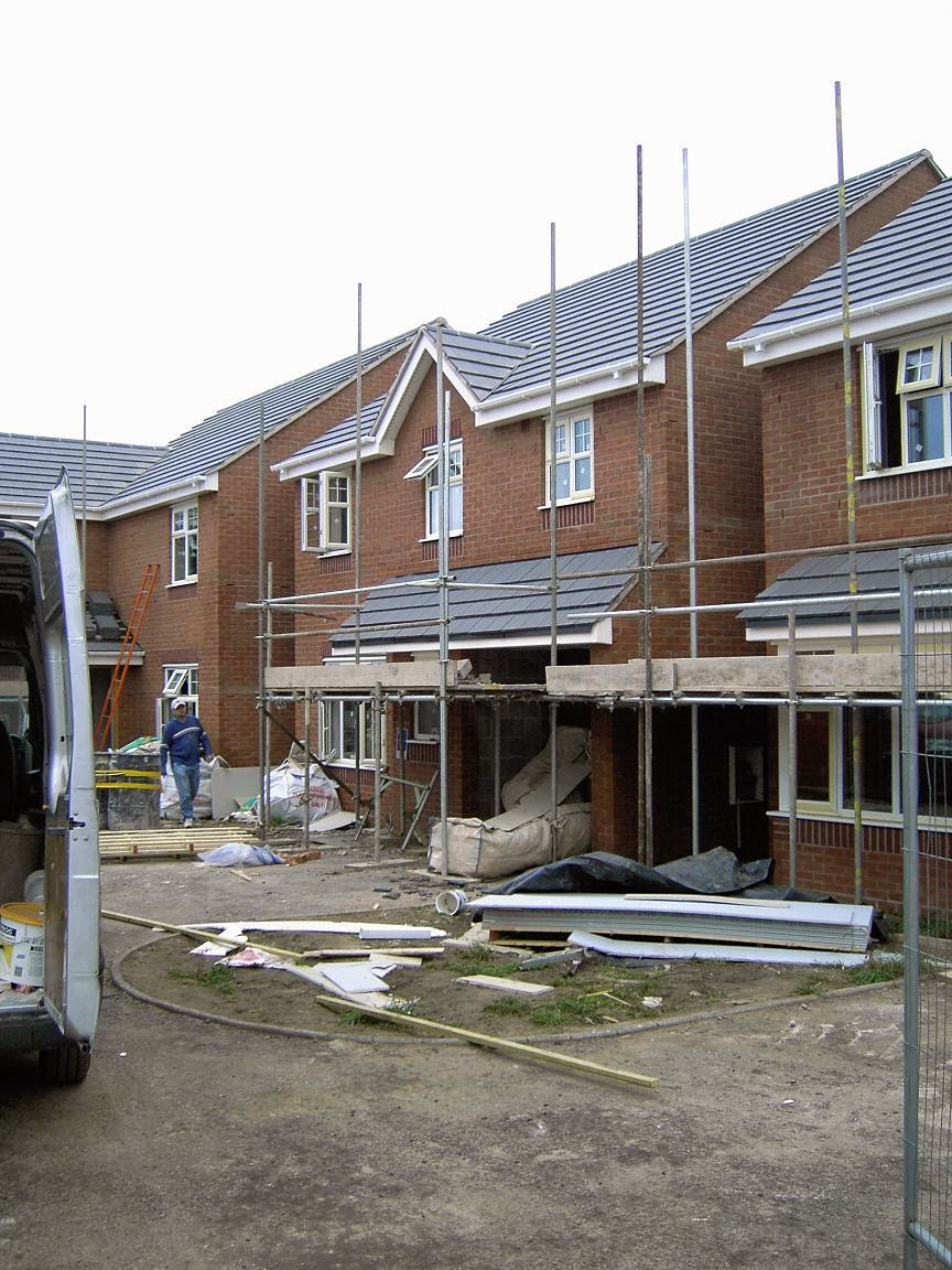 house building, building site