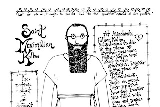 saint maxamillion kolbe coloring pages | Look to Him and be Radiant: Teaching about St. Maximilian ...