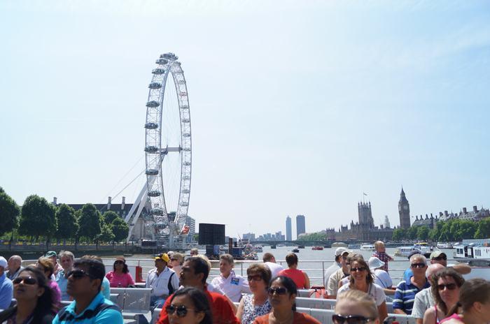 London eye con el Big Ben