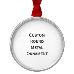 Custom Round Metal Photo Christmas Ornament