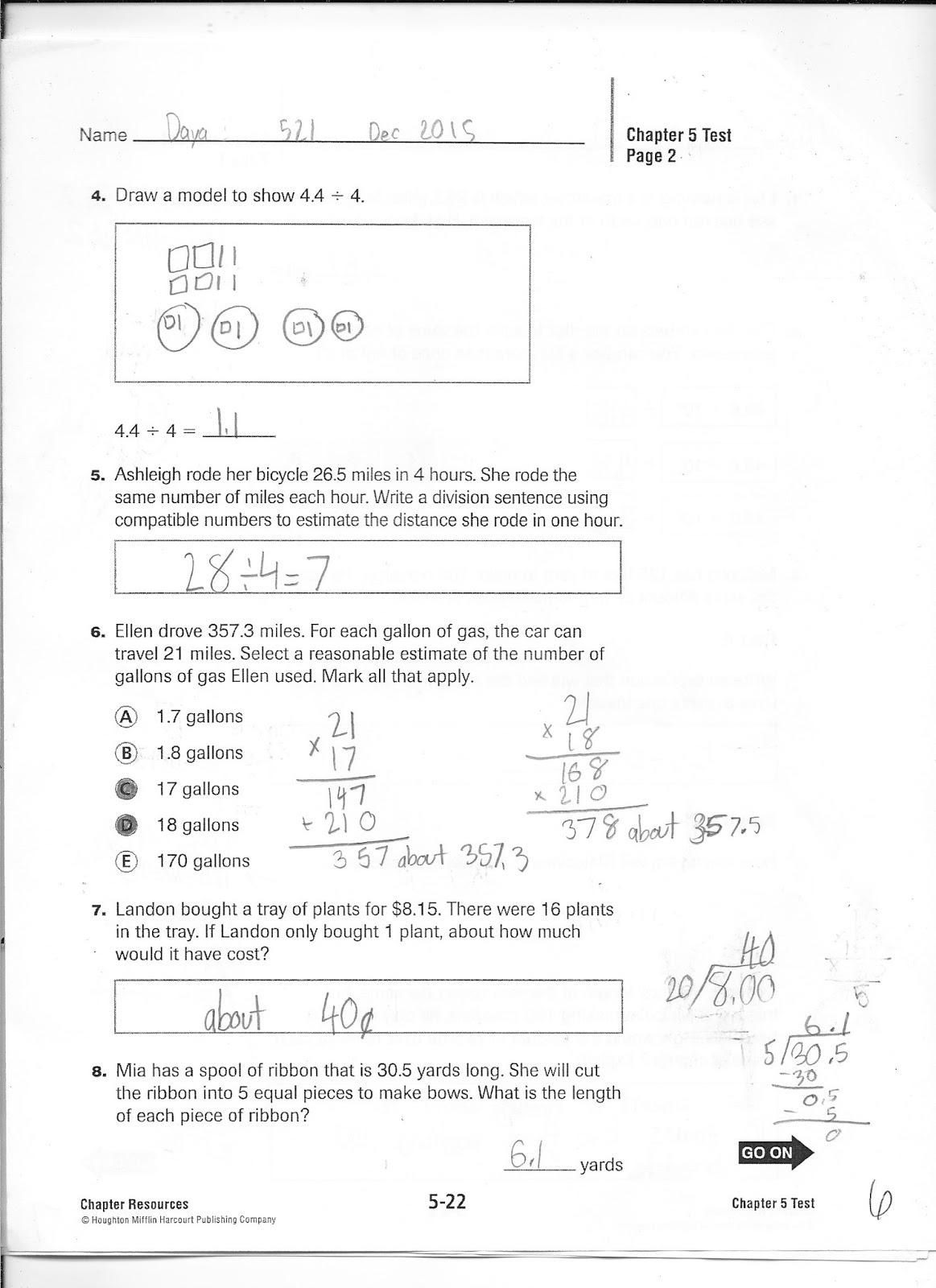 Stapeliad 5th Grade Math Test