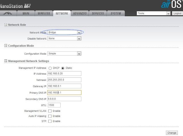 Konfigurasi Network Ubiquiti NanoStation M2 / LOCO