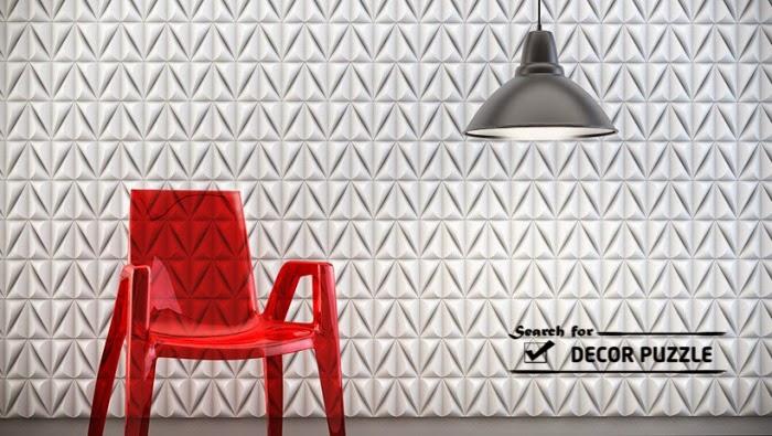3D wall art panels, modern living room wall design