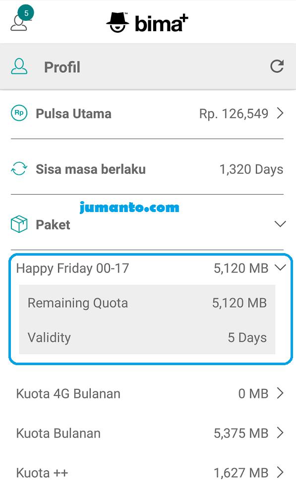Cara Mendapatkan Kuota Gratis 3 Di Android