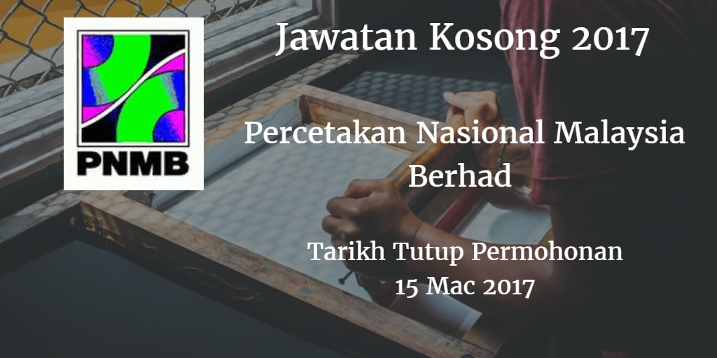 Jawatan Kosong PNMB 15 Mac 2017
