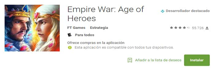 Empire War Age of Heroes