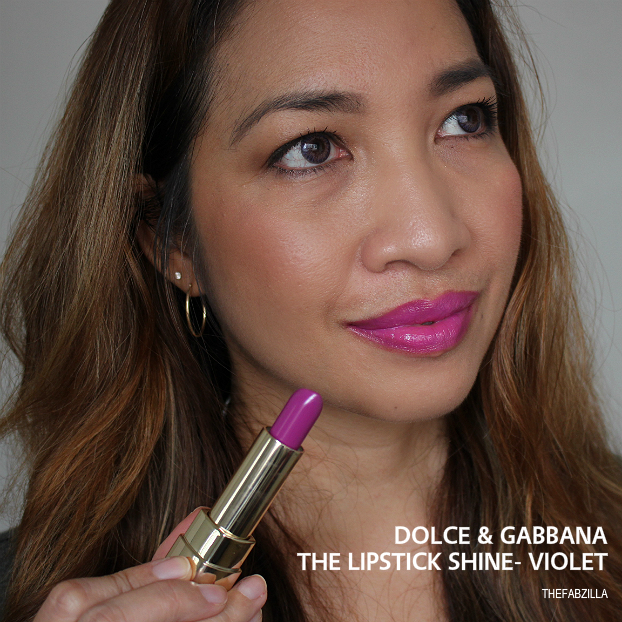 dolce and gabbana lipstick shine violet
